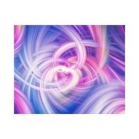 Swirl and Twirl - Pink, blue and purple wall art | Zazzle