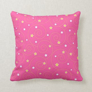 Swirls stars pink pillows