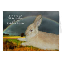 Sympathy for loss of pet rabbit card