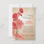 Sympathy Memory Floral Red Pink Coral THANK YOU