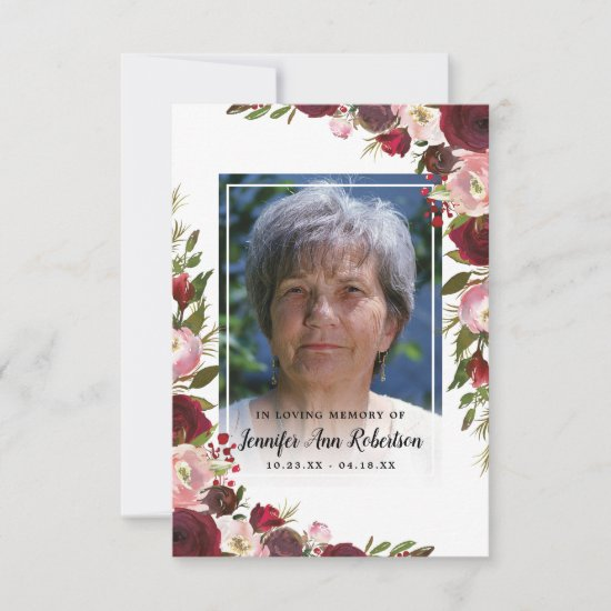 Sympathy Thank You - Funeral Photo Floral