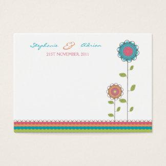 Table Place Cards Tall Rainbow Flowers Wedding