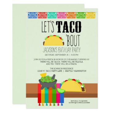 Taco 'Bout Birthday Party Invitation