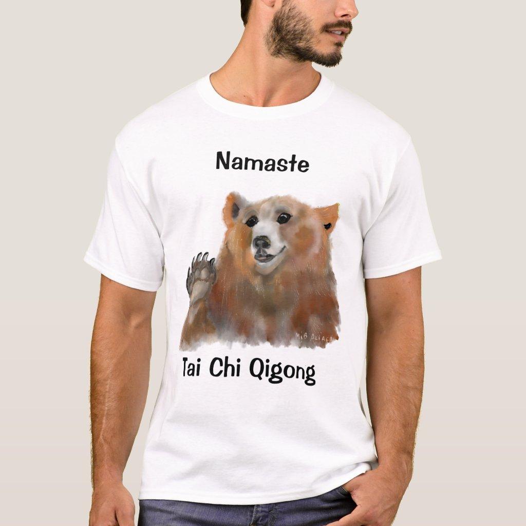 Tai Chi Qigong Bear White T-Shirt