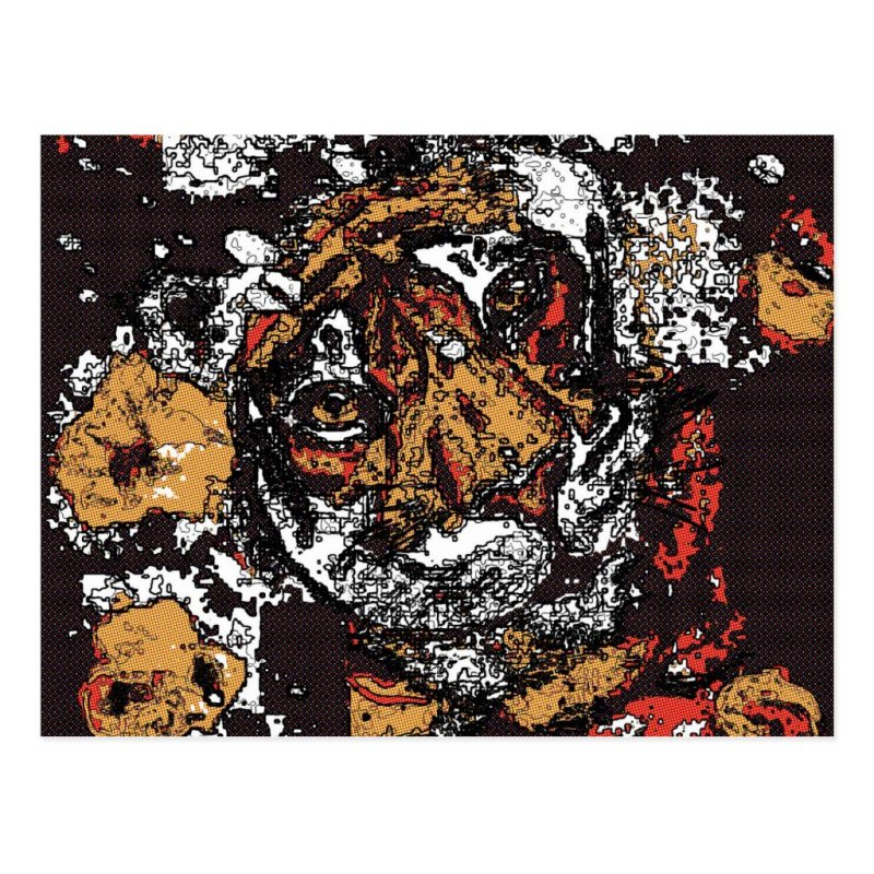 ' Tai Chi Tiger Iconic Insight Golden Browns Postcard