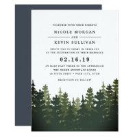 Tall Pines Wedding Invitation