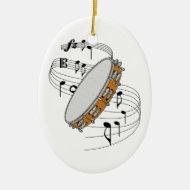 Tambourine Ornament