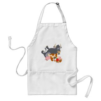 Tango!! (cartoon bull and cow) cooking apron apron