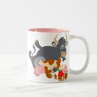 Tango!! (cartoon bull and cow) Mug mug
