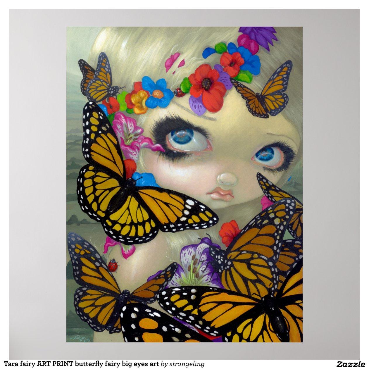 Tara Fairy Art Print Butterfly Big Eyes Art-r921491eb9f944174aa8509242ce05778 Ainqk 8byvr