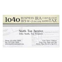 Tax preparer Business Card Templates | BizCardStudio