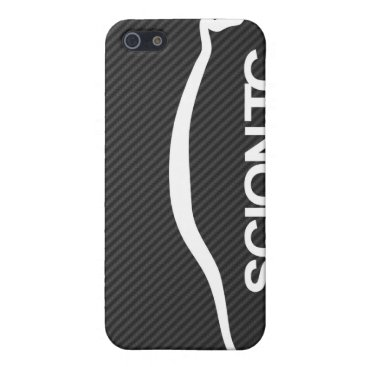 TC Silhouette Logo on Faux Carbon Case For iPhone SE/5/5s