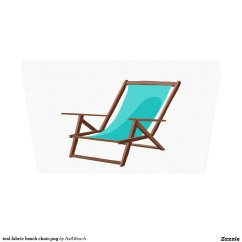 Canvas Beach Chair Proper Posture In Teal Fabric Png Print