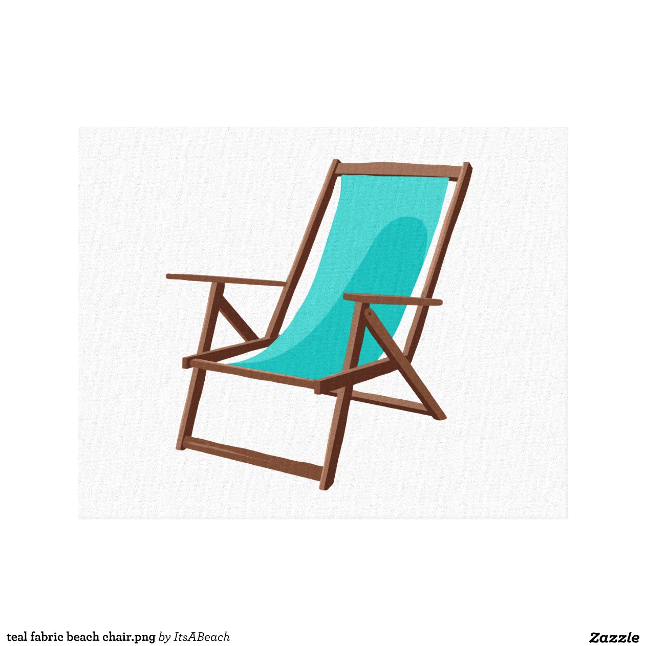canvas beach chair target folding chairs and tables teal fabric png print