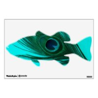Teal Peacock Wall Decals & Wall Stickers
