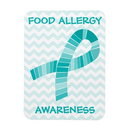 Teal Ribbon Food Allergy Awareness Teal Chevron Rectangular Photo ...