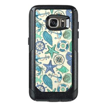 Teal Sea Animals Pattern OtterBox Samsung Galaxy S7 Case