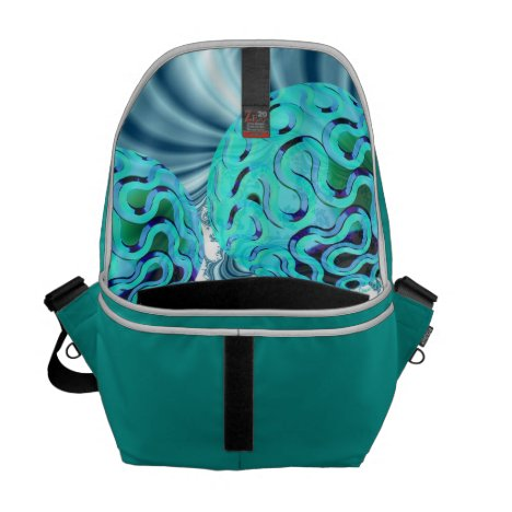 Teal Sea Forest, Abstract Underwater Ocean Courier Bag