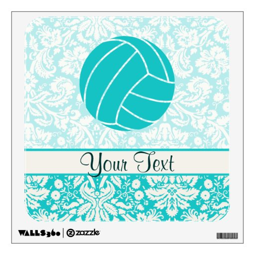 Teal Volleyball Wall Decal