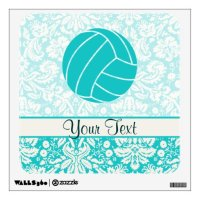 Teal Volleyball Wall Decal | Zazzle