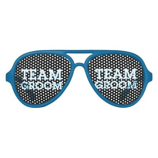 Team Groom Blue Outline Black Wayfarer Sunglasses
