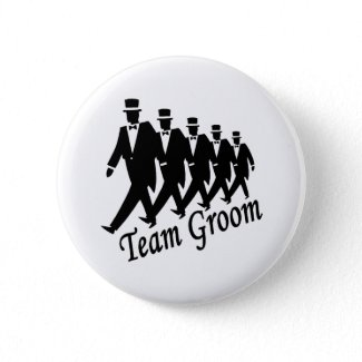 Team Groom Men Button