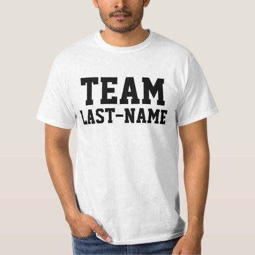 TEAM (Last Name) Family Name T-Shirt