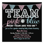 Team Spirit Gender Reveal Baby Shower Invitation