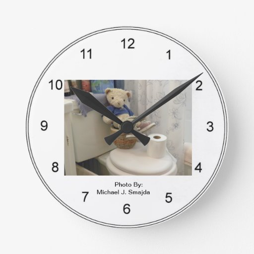 Bathroom Clocks  Bathroom Wall Clock Designs  Zazzle