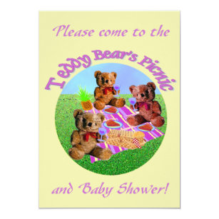 Teddy Bear Picnic Invitations & Announcements | Zazzle
