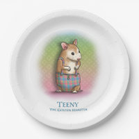 Teeny The Golden Hamster - Party paper plates
