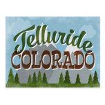 Telluride Colorado Fun Retro Snowy Mountains Postcard