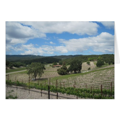 Templeton Wine Country at the End of May Card