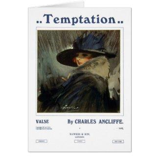 Temptation Greeting Cards