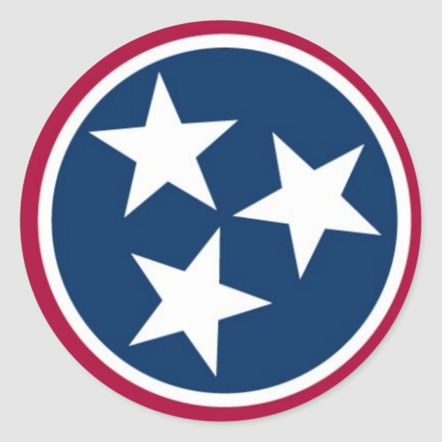 Tennessee State Flag Classic Round Sticker