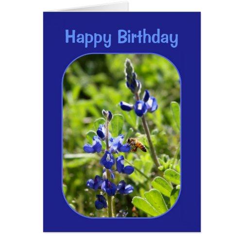 Texas Bluebonnets Happy Birthday