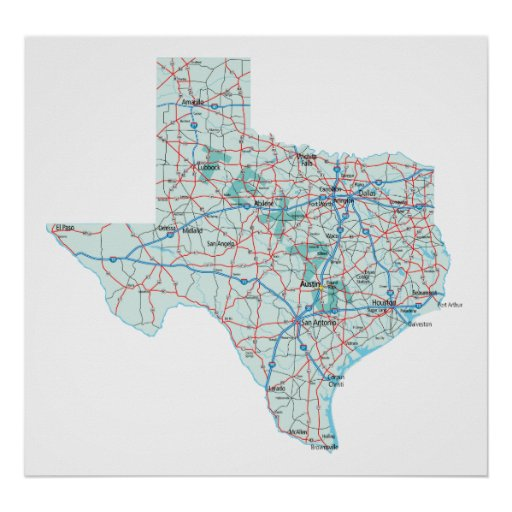 Interstate Map Of Texas.25 Large Printable Texas Map Landscape Pictures And Ideas On Pro