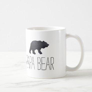 Textured Grey Bear Coffee Mug