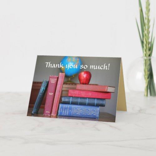 Thank You, Apple for the Teacher Card card