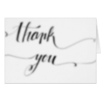 Thank You Card - Blurry