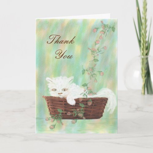 Thank You Card for Caring for Pet Cat