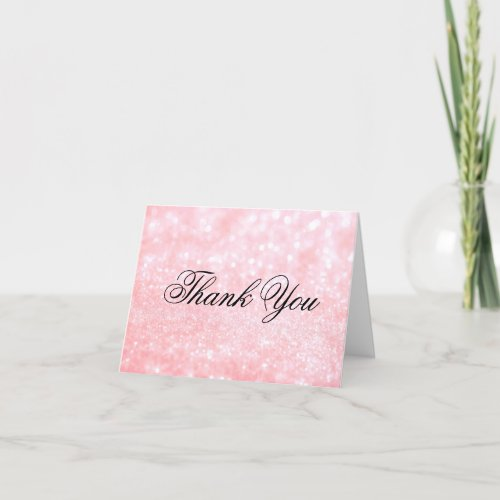 Thank You Note Card - Lit Pink Glit Fab