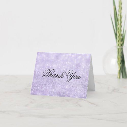 Thank You Note Card - Lit Purple Glit Fab