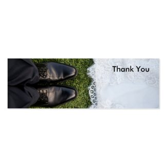 Thank You Photo Cards for Favor and Gift Bags Double-Sided Mini Business Cards (Pack Of 20)