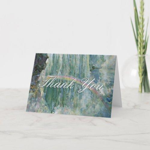 Thank You Script Fall Rainbow Greeting Card