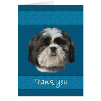 Thank You, Shih Tzu Dog Card