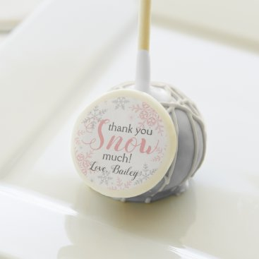 Thank You SNOW Much Pink Winter ONEderland Cake Pops