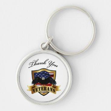 Thank You Veterans Keychain