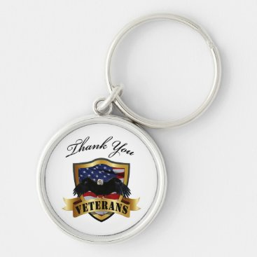 Thank You Veterans Keychain