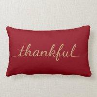 Thankful pillow | Zazzle